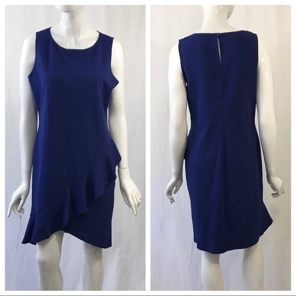 bebe Dresses & Skirts - Bebe Blue Ruffle Dress Size 12